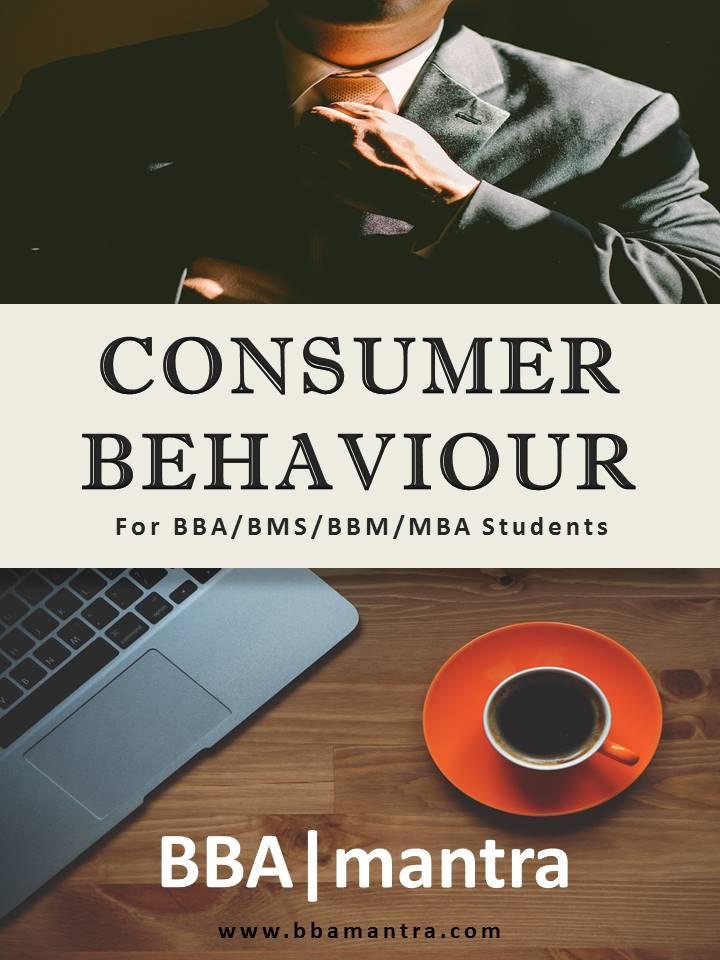 consumer behaviour notes for bba